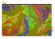 Modern Art Abstract Fractal Green Background Carry-all Pouch