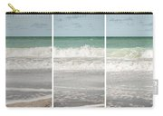Modern Beach Tryptych Carry-all Pouch