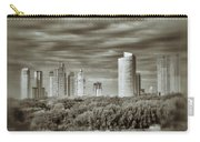 Modern Buenos Aires Black And White Carry-all Pouch