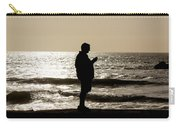 Modern Man Looking At Smart Phone Carry-all Pouch