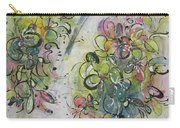 Modern Spring Blossom Art Painting Flower Butterfly Art Acrylic Ink Rice Paper Green Yellow Pink Sjk Carry-all Pouch
