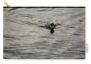Moire Silk Water And A Long Tailed Duck Carry-all Pouch