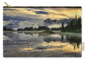 Molas Lake Sunrise With Scripture Carry-all Pouch