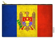 Moldova Flag Vintage Distressed Finish Carry-all Pouch