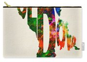 Moldova Typographic Watercolor Map Carry-all Pouch