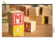 Mom Alphabet Blocks Carry-all Pouch
