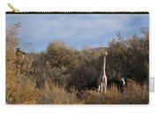 Momma And Baby Giraffe Carry-all Pouch
