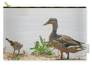 Momma Duck And Baby With A Different View Carry-all Pouch