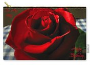 Mom's Red Rose Happy Birthday Wife Carry-all Pouch