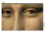 Mona Lisa    Detail Carry-all Pouch by Leonardo Da Vinci