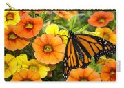 Monarch Among The Flowers Carry-all Pouch