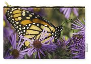 Monarch And Asters Carry-all Pouch