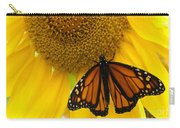 Monarch And Sunflower Carry-all Pouch