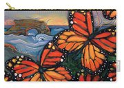 Monarch Butterflies At Natural Bridges Carry-all Pouch by Jen Norton