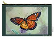 Viceroy Butterfly By George Wood Carry-all Pouch