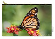 Monarch Butterfly On Lantana Flowers Carry-all Pouch