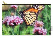 Monarch Butterfly On Pink Lantana Carry-all Pouch