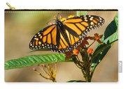 Monarch Butterfly On Plant With Eggs Carry-all Pouch