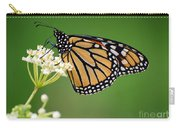 Monarch Butterfly On White Milkweed Flower Carry-all Pouch
