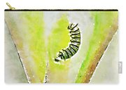 Monarch Caterpillar - Digital Watercolor Carry-all Pouch