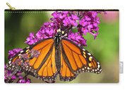 Monarch Hangs On To Buddleia Carry-all Pouch