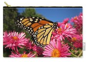 Monarch On Pink Asters Carry-all Pouch