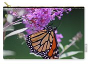 Monarch On Butterfly Bush Carry-all Pouch