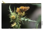 Monarch On Thistle Carry-all Pouch