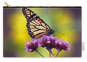 Monarch With Sunflower Carry-all Pouch