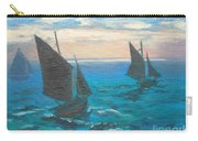 Monet's Boats Leaving The Harbor Carry-all Pouch