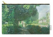 Monets Garden Oil On Board Carry-all Pouch