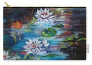 Monet's Pond With Lotus 11 Carry-all Pouch