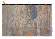 Monet's Rouen Cathedral -- West Facade Carry-all Pouch