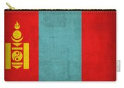 Mongolia Flag Vintage Distressed Finish Carry-all Pouch