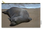 Monk Seal Sunning Carry-all Pouch by Brian Harig