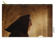 Monk With Candle In Cathedral Carry-all Pouch