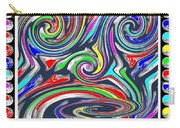 Monkey Dance Created Out Of Beads Of The Border Creative Digital Graphic Work Cartoon Comedy Backgro Carry-all Pouch