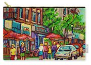 Monkland Tavern Corner Old Orchard Montreal Street Scene Painting Carry-all Pouch
