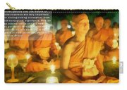 Monks In Meditation Carry-all Pouch