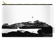 Monochromatic Godrevy Island And Lighthouse Carry-all Pouch