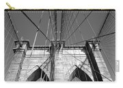 Monochromatic View Of Brooklyn Bridge Carry-all Pouch