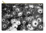 Monochrome Asters Carry-all Pouch