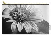 Monochrome Coneflower Carry-all Pouch