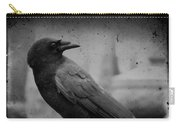 Monochrome Crow Carry-all Pouch