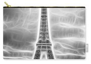 Monochrome Eiffel Tower Fractal Carry-all Pouch