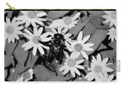 Monochrome Flowers 2 Carry-all Pouch