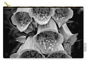Monochrome Foxglove Carry-all Pouch