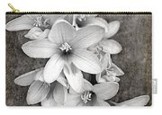 Monochrome Freesia Canvas Grunge Carry-all Pouch