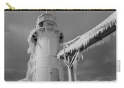 Monochrome Frozen Lighthouse Grand Haven Michigan Carry-all Pouch
