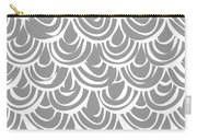 Monochrome Scallop Scales Carry-all Pouch